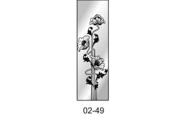 Пескоструйный рисунок 02-49 на одну дверь шкафа-купе. Цветы