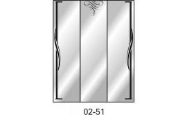 Пескоструйный рисунок 02-51 на три двери шкафа-купе. Узор