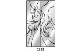 Пескоструйный рисунок 02-55 на две двери шкафа-купе. Цветы