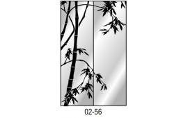 Пескоструйный рисунок 02-56 на одну дверь шкафа-купе. Дерево