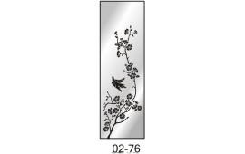 Пескоструйный рисунок 02-76 на одну дверь шкафа-купе. Цветы