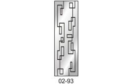 Пескоструйный рисунок 02-93 на одну дверь шкафа-купе. Узор