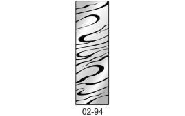 Пескоструйный рисунок 02-94 на одну дверь шкафа-купе. Узор