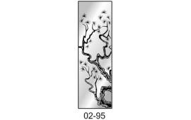 Пескоструйный рисунок 02-95 на одну дверь шкафа-купе. Дерево