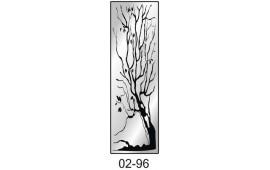 Пескоструйный рисунок 02-96 на одну дверь шкафа-купе. Дерево