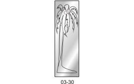Пескоструйный рисунок 03-30 на одну дверь шкафа-купе. Пальма