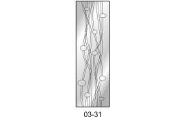 Пескоструйный рисунок 03-31 на одну дверь шкафа-купе. Узор