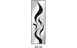 Пескоструйный рисунок 03-34 на одну дверь шкафа-купе. Узор