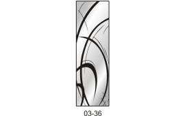 Пескоструйный рисунок 03-36 на одну дверь шкафа-купе. Узор