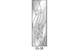 Пескоструйный рисунок 03-38 на одну дверь шкафа-купе. Узор