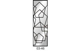 Пескоструйный рисунок 03-46 на одну дверь шкафа-купе. Узор