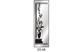 Пескоструйный рисунок 03-48 на одну дверь шкафа-купе. Цветы