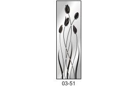 Пескоструйный рисунок 03-51 на одну дверь шкафа-купе. Цветы
