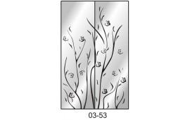 Пескоструйный рисунок 03-53 на две двери шкафа-купе. Узор