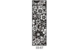 Пескоструйный рисунок 03-67 на одну дверь шкафа-купе. Цветы