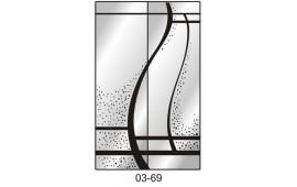 Пескоструйный рисунок 03-69 на две двери шкафа-купе. Узор
