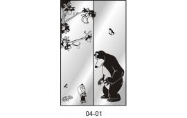 Пескоструйный рисунок 04-01 на две двери шкафа-купе. Детское