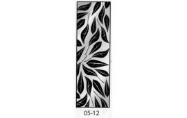 Пескоструйный рисунок 05-12 на одну дверь шкафа-купе. Цветы