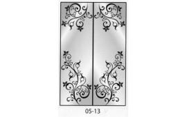 Пескоструйный рисунок 05-13 на две двери шкафа-купе. Узор