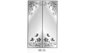 Пескоструйный рисунок 05-15 на две двери шкафа-купе. Узор