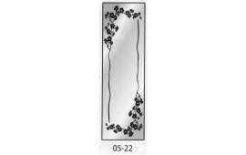Пескоструйный рисунок 05-22 на одну дверь шкафа-купе. Узор