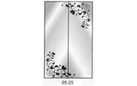 Пескоструйный рисунок 05-25 на две двери шкафа-купе. Узор