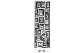 Пескоструйный рисунок 05-28 на одну дверь шкафа-купе. Узор