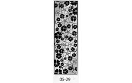 Пескоструйный рисунок 05-29 на одну дверь шкафа-купе. Цветы