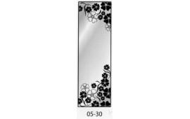 Пескоструйный рисунок 05-30 на одну дверь шкафа-купе. Узор