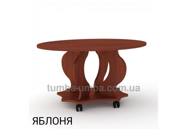 фото недорогой современный журнальный стол Венеция ДСП Компанит цвет яблоня в интернет-магазине мебели эконом-класса TUMBA-UMBA™
