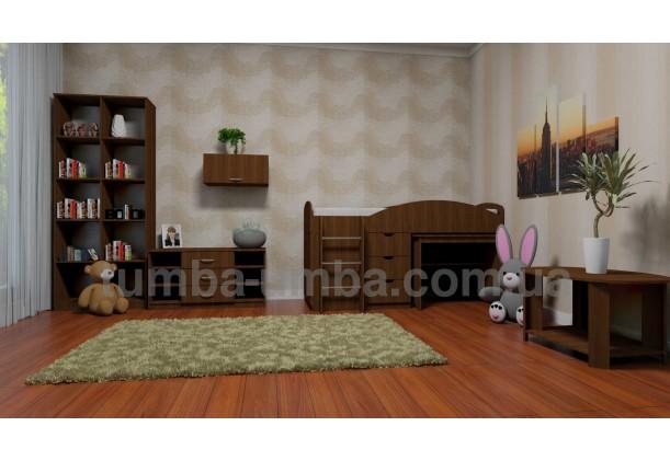 фото недорогой журнальный стол Овал ДСП Компанит в интерьере в комнате в интернет-магазине мебели эконом-класса TUMBA-UMBA™