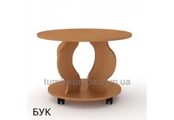 фото недорогой современный журнальный стол Ринг ДСП Компанит цвет бук в интернет-магазине мебели эконом-класса TUMBA-UMBA™