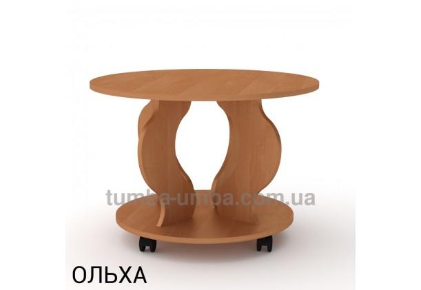 фото недорогой современный журнальный стол Ринг ДСП Компанит цвет ольха в интернет-магазине мебели эконом-класса TUMBA-UMBA™