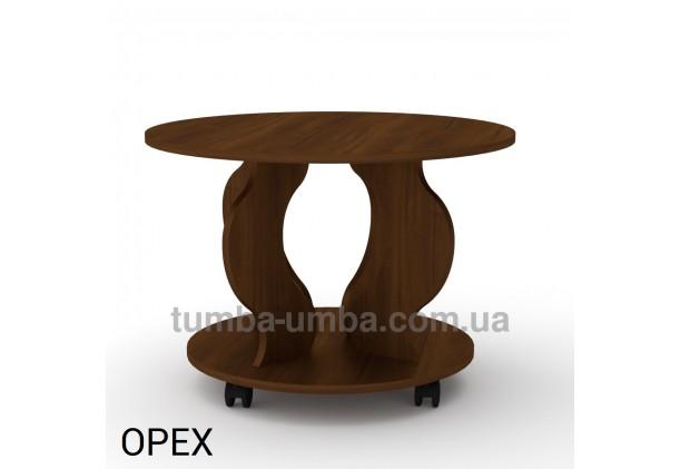 фото недорогой современный журнальный стол Ринг ДСП Компанит цвет орех экко в интернет-магазине мебели эконом-класса TUMBA-UMBA™
