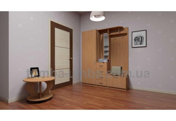 фото недорогой журнальный стол Ринг ДСП Компанит в интерьере в комнате в интернет-магазине мебели эконом-класса TUMBA-UMBA™