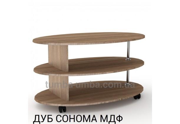 фото недорогой современный журнальный стол Соната МДФ Компанит цвет дуб сонома в интернет-магазине мебели эконом-класса TUMBA-UMBA™
