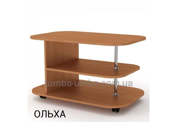 фото недорогой современный журнальный стол Танго ДСП Компанит цвет ольха в интернет-магазине мебели эконом-класса TUMBA-UMBA™