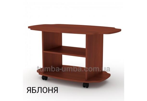 фото недорогой современный журнальный стол Твіст ДСП Компанит цвет яблоня в интернет-магазине мебели эконом-класса TUMBA-UMBA™
