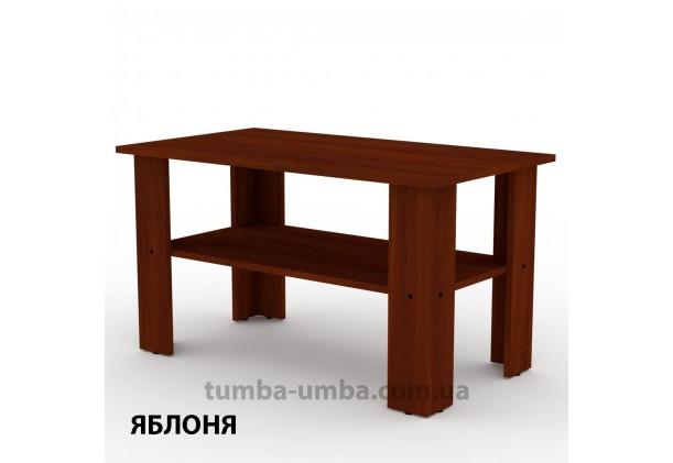 фото недорогой современный журнальный стол Мадрид-2 Компанит цвет Яблоня в интернет-магазине мебели эконом-класса TUMBA-UMBA™