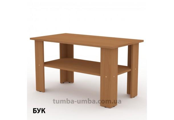 фото недорогой современный журнальный стол Мадрид-2 Компанит цвет Бук в интернет-магазине мебели эконом-класса TUMBA-UMBA™