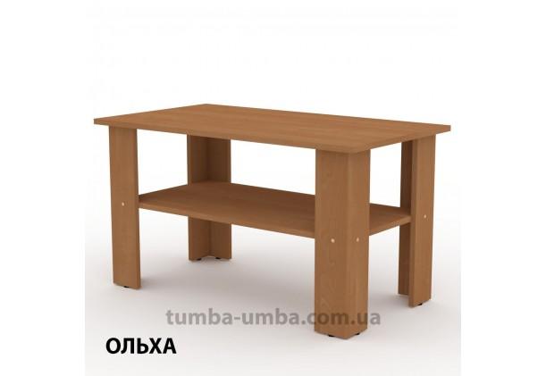 фото недорогой современный журнальный стол Мадрид-2 Компанит цвет Ольха в интернет-магазине мебели эконом-класса TUMBA-UMBA™