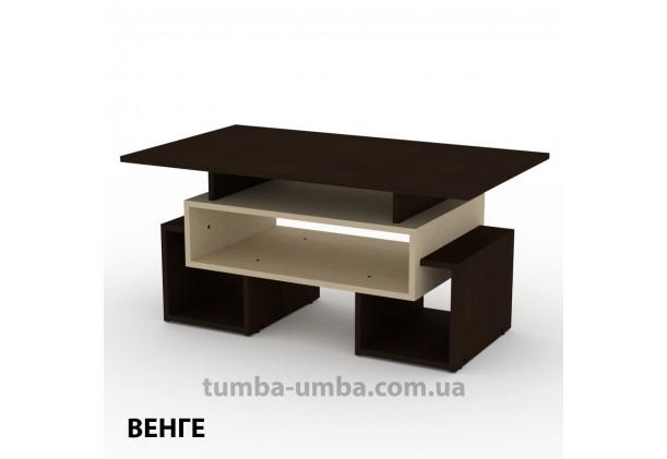 фото недорогой современный журнальный стол Тандем Компанит цвет венге в интернет-магазине мебели эконом-класса TUMBA-UMBA™