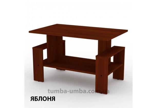 фото недорогой современный журнальный стол Венера Компанит цвет Яблоня в интернет-магазине мебели эконом-класса TUMBA-UMBA™