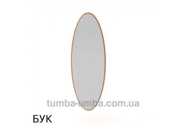 Фото недорогое готовое овальное Зеркало-1 на стену в зал, прихожую, спальню или офис в цвете бук дешево от производителя с доставкой по всей Украине
