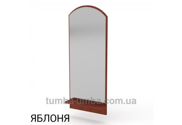 Фото недорогое готовое Зеркало-3 с полкой на стену в зал, прихожую, спальню или офис в цвете яблоня дешево от производителя с доставкой по всей Украине