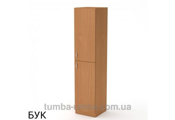 Фото недорогой стандартный мебельный распашной пенал КШ-13 ДСП с полками для дома и офиса в цвете бук дешево от производителя с доставкой по всей Украине