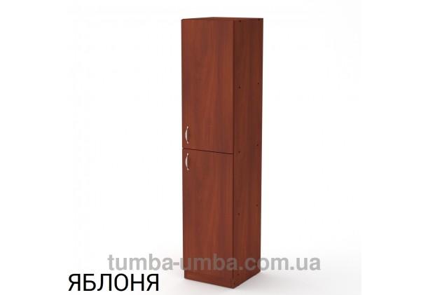 Фото недорогой стандартный мебельный распашной пенал КШ-13 ДСП с полками для дома и офиса в цвете яблоня дешево от производителя с доставкой по всей Украине