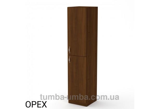 Фото недорогой стандартный мебельный распашной пенал КШ-13 ДСП с полками для дома и офиса в цвете Орех Экко дешево от производителя с доставкой по всей Украине