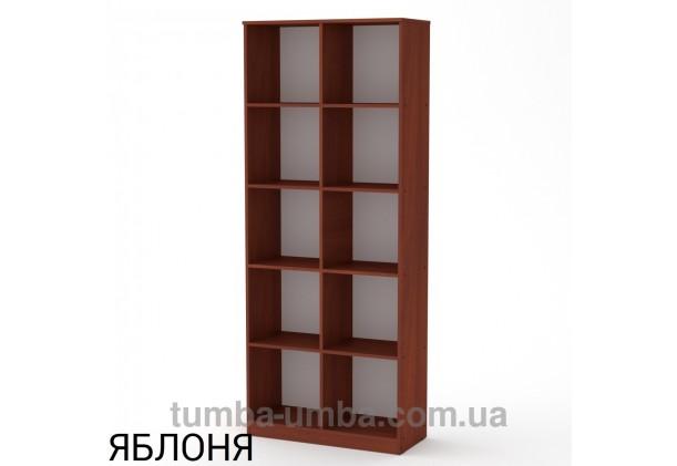 Фото недорогой стандартный мебельный открытый пенал-стеллаж КШ-2 ДСП с полками для дома и офиса в цвете яблоня дешево от производителя с доставкой по всей Украине