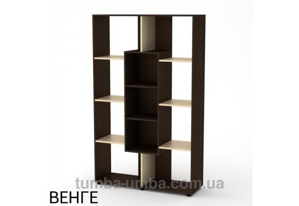 Фото недорогой стандартный мебельный открытый пенал-стеллаж КШ-4 ДСП с полками для дома и офиса в цвете венге дешево от производителя с доставкой по всей Украине